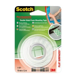 Scotch Plakband 19 mm x 1,5 m Wit