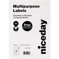 Niceday 1882667 Multifunctionele etiketten Wit 105 x 48 mm 100 Vellen à 12 Etiketten