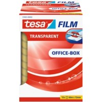 tesafilm Plakband Office Box 12 mm x 66 m Transparant 12 Rollen