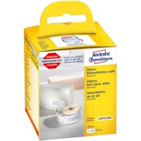 AVERY Zweckform Adresetiketten AS0722400 36 x 89 mm Wit 2 Rollen à 260 Etiketten