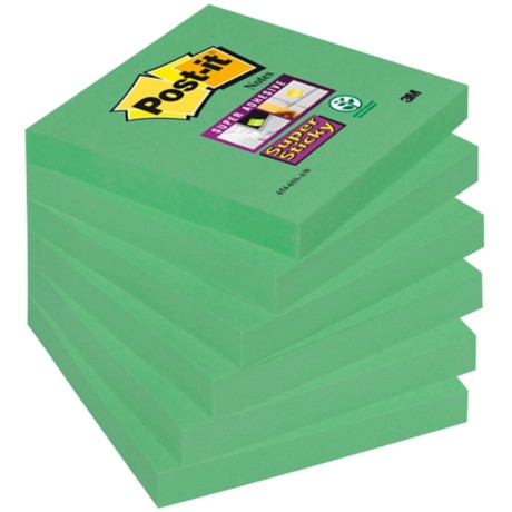 Post-it Super sticky Notes Groen Blanco 76 mm 70 g/m² 6 stuks à 90 vellen