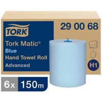 Tork Handdoekrol H1 Matic Advanced 2-laags Rol Blauw 6 Rollen à 625 Vellen