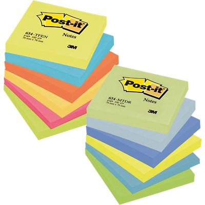 Post-it Notes 76 x 76 mm Energy en Dream Kleurenassortiment 100 Vellen Voordeelpak 9 + 3 GRATIS