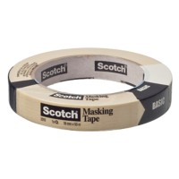 Scotch Afplaktape BASIC 18 mm x 50 m Beige