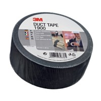3M Economy Duct Tape 1900 Zwart 50 mm x 50 m