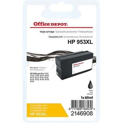 Office Depot Compatibel HP 953XL Inktcartridge L0S70AE Zwart