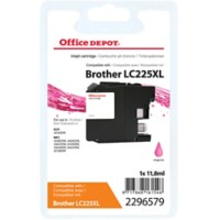 Office Depot Compatibel Brother LC225XL Inktcartridge Magenta