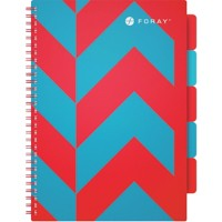 Foray Projectboek Extreme A4 Gelinieerd Rood, turquoise 175 Vellen