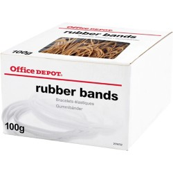 Office Depot Elastiekjes Naturel 127 x 1,5 mm 100 g