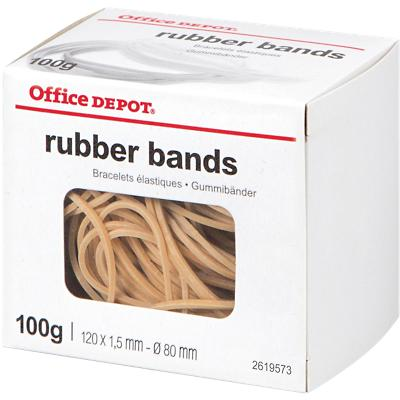 Office Depot Elastieken 1,5 x 120mm Ø 80mm Naturel 100g