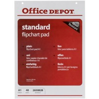 Office Depot Plain flip-over Pads geperforeerd A1 70 gsm voor wandmontage 40 vellen