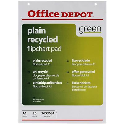 Office Depot Plain flip-over Pads geperforeerd A1 70 gsm voor wandmontage 20 vellen