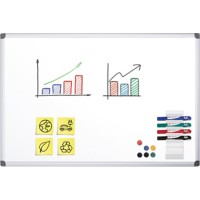 Office Depot Wandmontage Magnetisch Whiteboard Emaille Superior 150 x 100 cm
