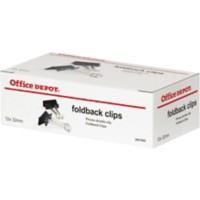 Office Depot Papierklemmen 32mm Zwart Pak van 12
