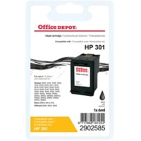 Office Depot Compatibel HP 301 Inktcartridge CH561EE Zwart