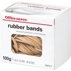 Office Depot Elastiekjes 16 Naturel 1,5 mm 100 g