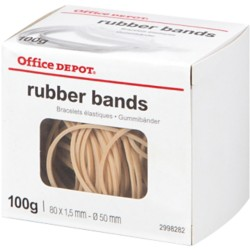 Office Depot Elastiekjes 18 Naturel 80 x 1,5 mm 100 g