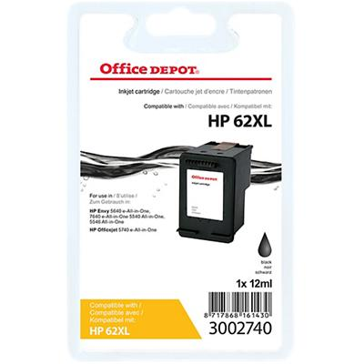Office Depot Compatibel HP 62XL Inktcartridge C2P05AE Zwart