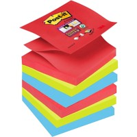 Post-it Super Sticky Z-Notes 76 x 76 mm Bora Bora Kleuren 6 Blokken van 90 Vellen