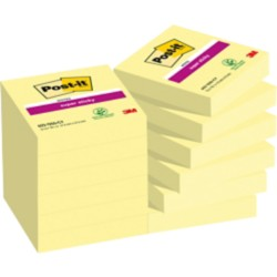 Post-it Super Sticky Notes Kanariegeel Blanco 48 x 48 mm 70 g/m² 12 stuks à 90 vellen