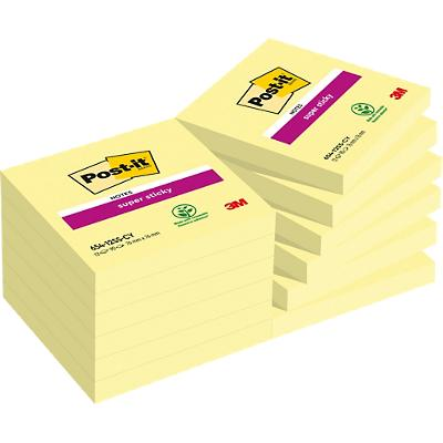 Post-it Super Sticky Notes 76 x 76 mm Kanariegeel 12 Stuks à 90 Vellen