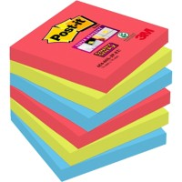 Post-it Notes 76 x 76 mm Rood, groen, blauw 6 Stuks à 90 Vellen
