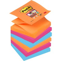Post-it Super Sticky Z-Notes 76 x 76 mm Bangkok Kleuren 6 Blokken van 90 Vellen