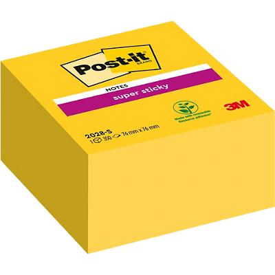 Post-it Kubusblok 76 x 76 mm Geel 350 Vellen