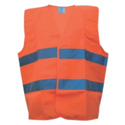 Veiligheidsvest Safety mesh polyester taille unique Oranje