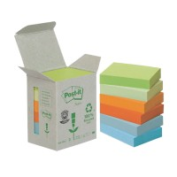 Post-it Gerecyclede notes 38 x 51 mm Kleurenassortiment 6 Stuks à 100 Vellen
