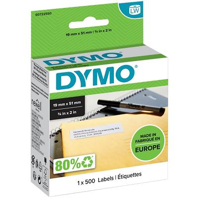 DYMO Multifunctionele etiketten 11355 19 x 51 mm Wit 500 Etiketten