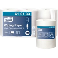 Tork Poetspapier M1 Advanced Mini 1-laags Centerfeed Wit 3 Rollen à 771 Vellen