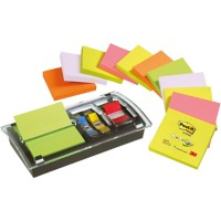 Post-it DS100-VP Z-Notes Dispenser Zwart 76 x 76 mm 70 g/m² 12 Pakken à 100 Vellen