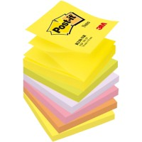 Post-it Z-Notes 76 x 76 mm Neon Kleuren 6 Blokken van 100 Vellen