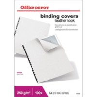 Office Depot Inbindkaften A4 Lederlook 250 gsm Wit 100 Stuks