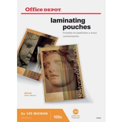 Office Depot Lamineerhoezen glanzend 2 x 125 (250) μm A4 100 stuks
