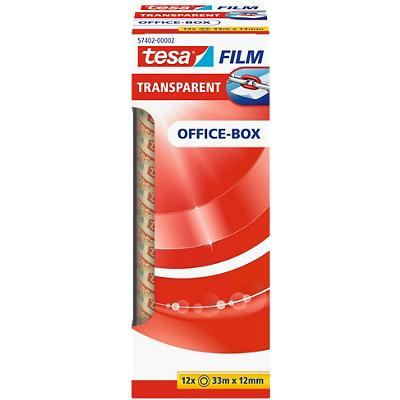 tesafilm Plakband Office Box Polypropyleen 12 mm x 33 m Transparant 12 Rollen