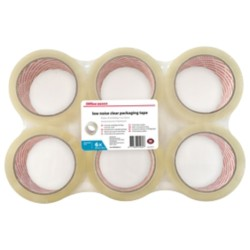 Office Depot Industriële tape Low noise 48 mm x 66 m Transparant 6 rollen