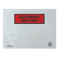 Office Depot Paklijst-enveloppen DOCUMENT ENCLOSED C5 16,2 x 22,9 cm 250 Stuks