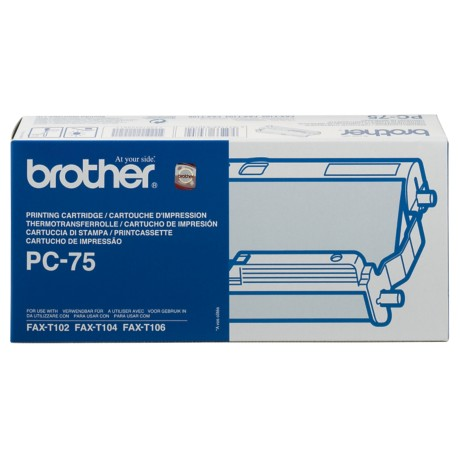 Brother PC75B Inkt Cartridge + Donorrol Zwart