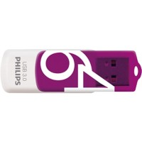 Philips USB-stick Vivid Swivel 64 GB Paars, wit