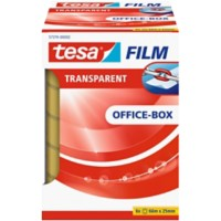 tesafilm Plakband Office Box 25 mm x 66 m Transparant 6 Rollen