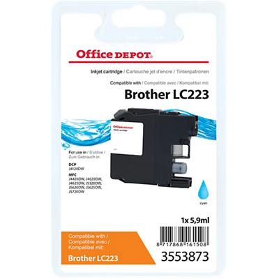 Office Depot Compatibel Brother LC223C Inktcartridge Cyaan