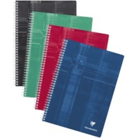 Clairefontaine Dubbelspiraal schrift Wit Geruit A4 210 x 297 mm 90 g/m²