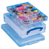 Really Useful Boxes Archiefboxen 15 vakjes Transparant Plastic 39,5 x 25,5 x 8,5 cm