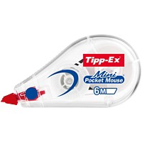 Tipp-Ex Correctie Tape Roller Mini Pocket Mouse 5 mm x 6 m Wit