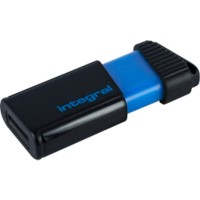 Integral USB 2.0 USB-stick Pulse 16 GB Zwart, blauw
