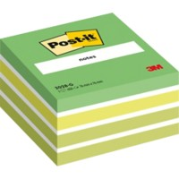 Post-it Kubusblok 76 x 76 mm Groen 450 Vellen