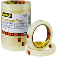 Scotch Tape 550 Plakband Transparant 15 mm x 66 m Toren van 10 rollen