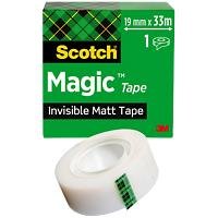 Scotch Magic 810 Plakband 19mm X 33m Onzichtbaar